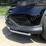 Защита переднего бампера d42.4 мм двойная  HONDA CR-V 2012+