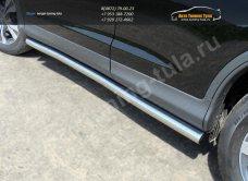 Кант штатных порогов/Пороги труба  d60,3 мм  HONDA CR-V 2012+ /арт.693-4