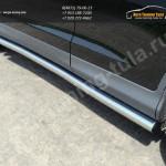 Кант штатных порогов/Пороги труба  d60,3 мм  HONDA CR-V 2012+