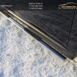 Пороги овальные d75х42 с накладками Митсубиши ASX 2013+
