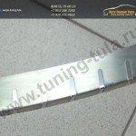 Накладки из нержавеющей стали на задний бампер с загибом Alufrost Польша