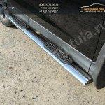Пороги овальные с накладками труба  d120х60 мм  HONDA CR-V 2012+