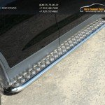Пороги с площадкой алюминиевый лист труба  d42,4 мм  HONDA CR-V 2012+