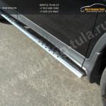 Пороги овальные с проступью труба  d75х42 мм  HONDA CR-V 2012+