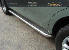 Пороги d60,3 мм  с площадкой нерж.лист Nissan PATROL 2010+/арт.702-4
