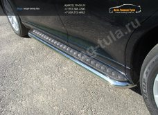 Пороги d60,3 с площадкой(лист-алюминий) Toyota VENZA 2013+ /арт.706-1
