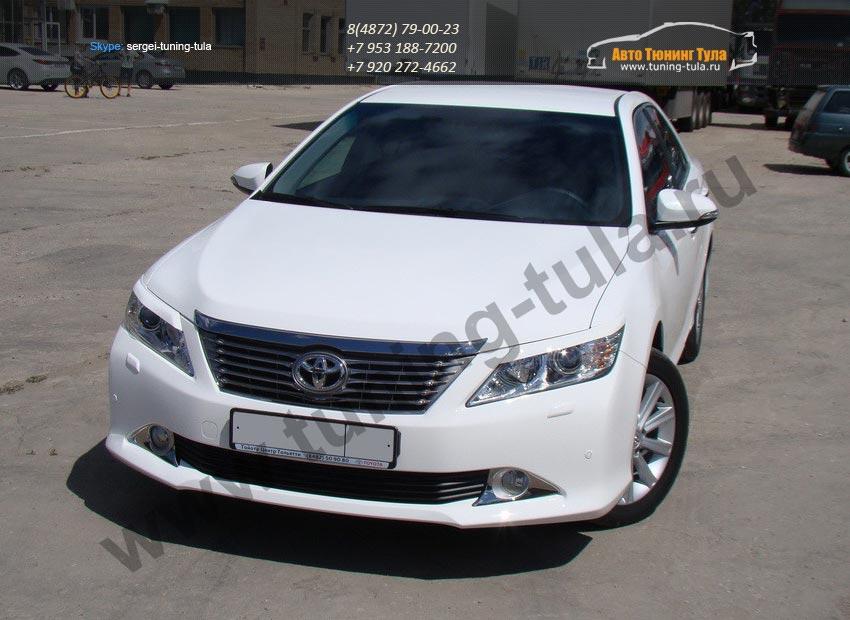 Накладки фар/ реснички / Абс-пластик / Toyota CAMRY VII V50 2012+ / арт.705-1