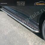 Пороги d42,4 с площадкой(лист-алюминий) Toyota VENZA 2013+