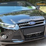 Накладки фар передние вар.2 /ресницы/ FORD Focus 3 2011+