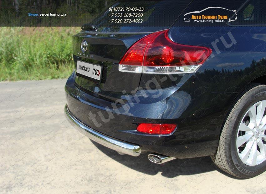 Защита заднего бампера овальная d75x42 Toyota VENZA 2013+ /арт.706-9