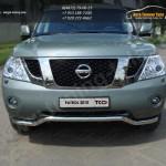 Защита переднего бампера d60,3 мм Nissan PATROL 2010+