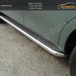 Пороги d60,3 мм  с площадкой нерж.лист Nissan PATROL 2010+