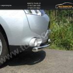 Защита бампера передняя двойная d60,3/42,4 мм Митсубиши Outlander 2012+