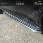 Пороги d60,3 с площадкой(лист-алюминий) Toyota VENZA 2013+