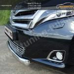 Защита переднего бампера овальная d75x42 Toyota VENZA 2013+