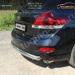 Защита заднего бампера овальная d75x42 Toyota VENZA 2013+