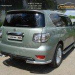 Защита заднего бампера уголки d76,1 мм Nissan PATROL 2010+