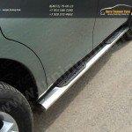 Пороги овальные  d120х60,3 мм с накладками Nissan PATROL 2010+