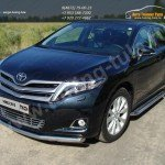 Защита переднего бампера овальная d60.3 Toyota VENZA 2013+