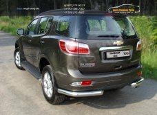 Защита заднего бампера d76,1мм уголки одинарные Chevrolet Trailblazer 2013+ /арт.719-2