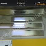 Накладки порогов от царапин нерж. сталь Ford RANGER 2013+