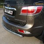 Защита заднего бампера d75х42 овальная  Chevrolet Trailblazer 2013+