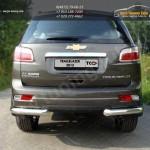 Защита заднего бампера d76,1мм уголки одинарные Chevrolet Trailblazer 2013+