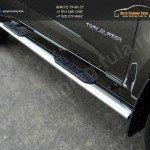 Комплект порогов 120х60мм овальные с накладками Chevrolet Trailblazer 2013+