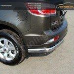 Защита заднего бампера d75х42 овальные уголки  Chevrolet Trailblazer 2013+