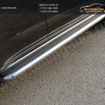 Комплект порогов d60,3мм с площадкой  нерж.лист Chevrolet Trailblazer 2013+