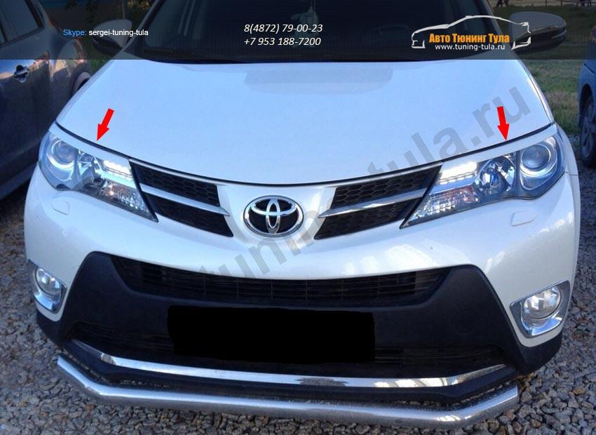 Накладки на фары / реснички / Toyota RAV4 2013+ /арт.716-1