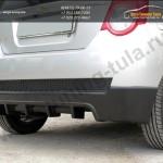 Накладка/Юбка заднего бампера хэтчбек Chevrolet AVEO 2005-2011
