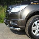 Защита передняя двойная d76,1/42,4 мм Chevrolet Trailblazer 2013+