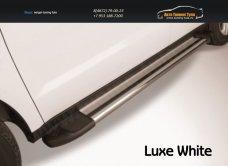 """Пороги алюминиевые """"Luxe Silver"""" 2000 серебристые Toyota Hilux /арт.363-13"""