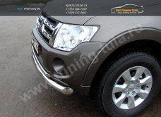 Защита переднего бампера d76,1/42,4мм двойная Mitsubishi Pajero IV 2013+/арт.657-2