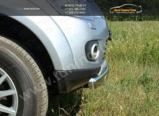 Защита бампера овальная d75x42 Mitsubishi Pajero Sport 2010+/арт.656-1