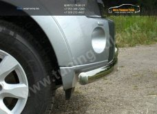 Защита переднего бампера двойная d75/75 Mitsubishi Pajero IV /арт.657-1