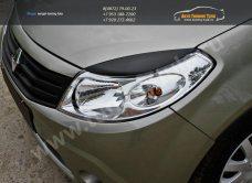 Накладки на фары / реснички / Renault SANDERO 2009 +/арт.186-1