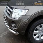 Защита переднего бампера d76,1/42,4мм двойная Mitsubishi Pajero IV 2013+