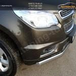 Защита передняя овальная d75х42 мм Chevrolet Trailblazer 2013+