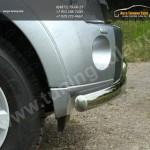 Защита переднего бампера двойная d75/75 Mitsubishi Pajero IV