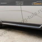 Накладки на внешние пороги хэтчбек Chevrolet AVEO 2005-2011