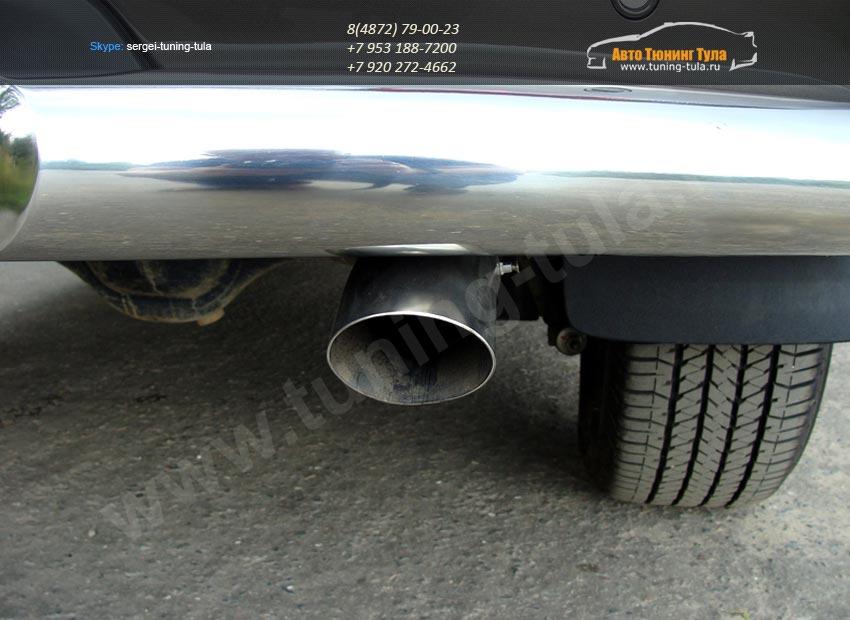 Насадка на глушитель d76,1 мм Chevrolet Trailblazer 2013+ /арт.719-7