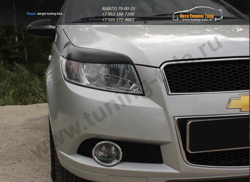 Накладки на фары/ реснички хэтчбек Chevrolet AVEO 2005-2011 / арт.720-3
