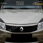 Накладки на фары / реснички / Renault SANDERO 2009 +