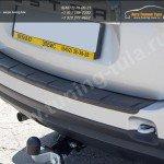 Накладка на задний бампер с загибом /АБС/ Рено Дастер / Duster