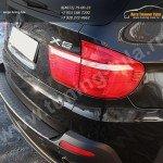 Накладка заднего бампера /АБС-пластик BMW X5 E70 2010 +