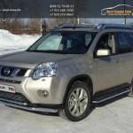 Защита переднего бампера d60.3/42.4мм двойная Nissan X-trail Т31 2011+