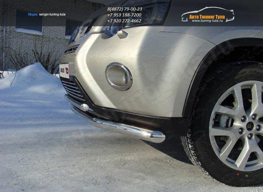 Защита переднего бампера d60.3/42.4мм двойная Nissan X-trail Т31 2011+ /арт.645-3
