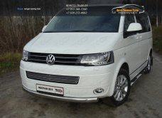 Защита переднего бампера овальная 75х42 мм  VW T5 Multivan 2013+ / арт.727-12